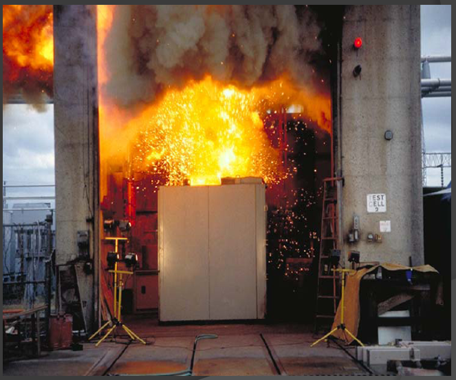 Arc explosion and fire